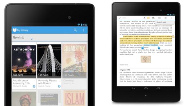 Google Play lejon studentët të marrin me qera literaturat e