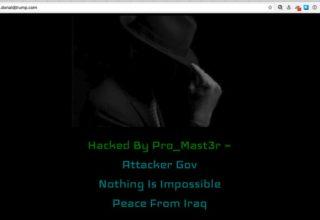 Hakohet uebsajti i Trump nga një haker Irakian