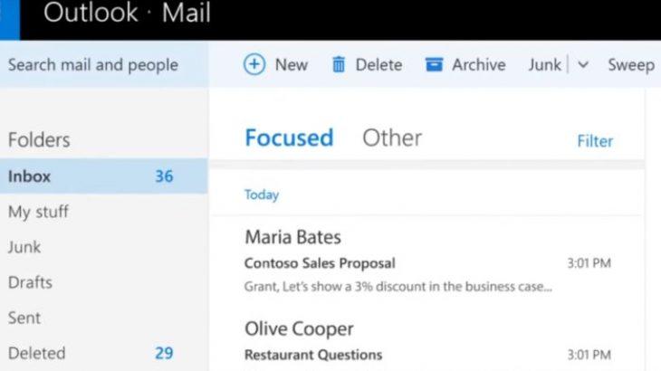 """""""Focused Inbox"""" mbërrin në aplikacionin Mail në Windows 10, së shpejti në Outlook.com"""
