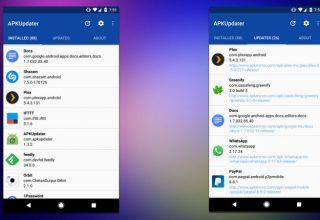 APKUpdater zëvendëson Google Play Store në versionet e përshtatura të Android
