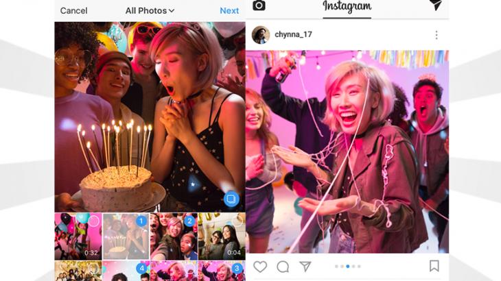 Instagram, publikoni deri në 10 video e foto njëherazi