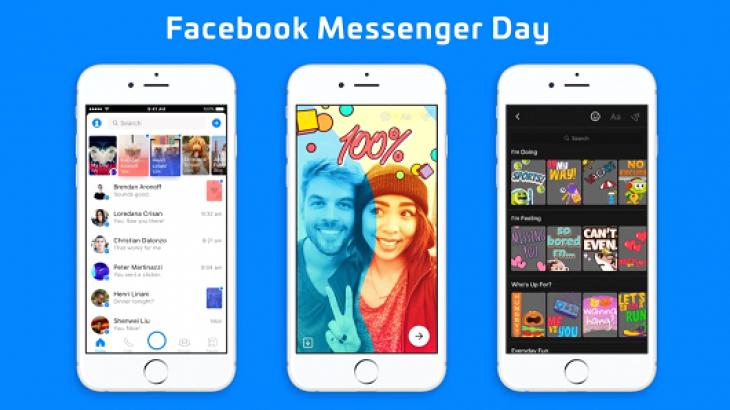 Facebook Messenger Day debuton globalisht, një tjetër klon i Snapchat Stories