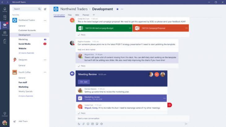 Microsoft Teams konkurron Slack, i disponueshëm për të gjithë përdoruesit e Office 365