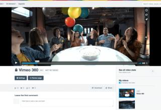 Vimeo shton mbështetjen për video 360 gradëshe