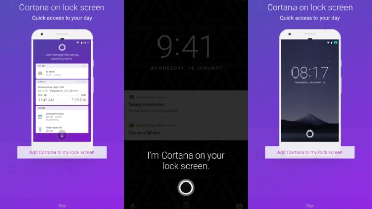 Microsoft Cortana tani edhe në ekranin e kyçjes së telefonëve Android