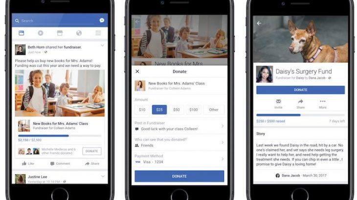 Facebook ofron mjete të reja për fushatat dhuruese