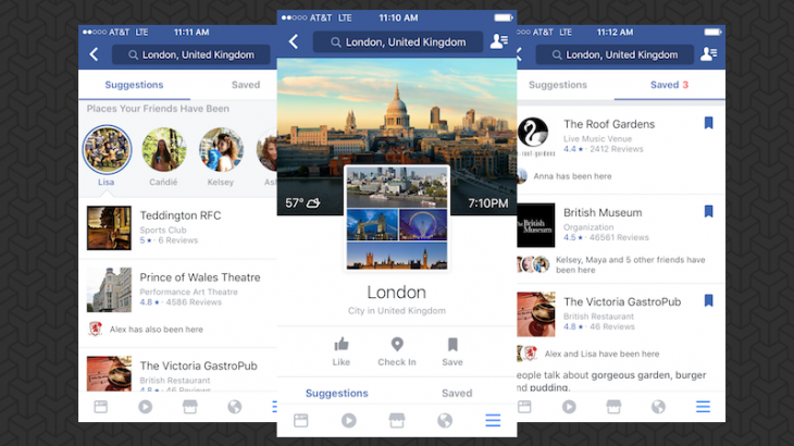 Facebook lançon guidën turistike City Guides