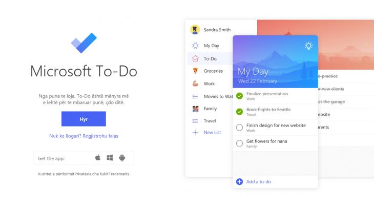 Njihuni me Wunderlist-in e ri: Microsoft To Do