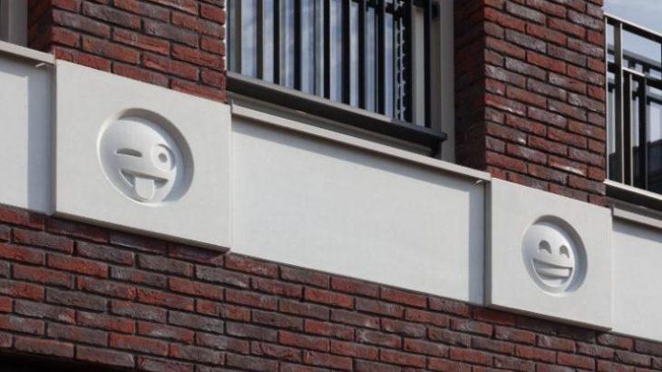 Një arkitekt Hollandez zgjodhi emoji për të zbukuruar ndërtesat
