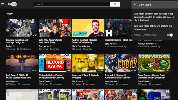Youtube me sfond të errët? Ja sesi ta aktivizoni
