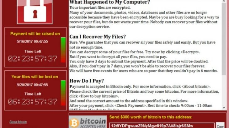 WannaCry ransomware sulmi kibernetikë: goditen 150 shtete