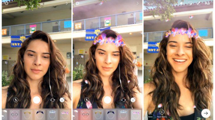Instagram vijon kopjimin e Snapchat me filtrat e fytyrës në iPhone