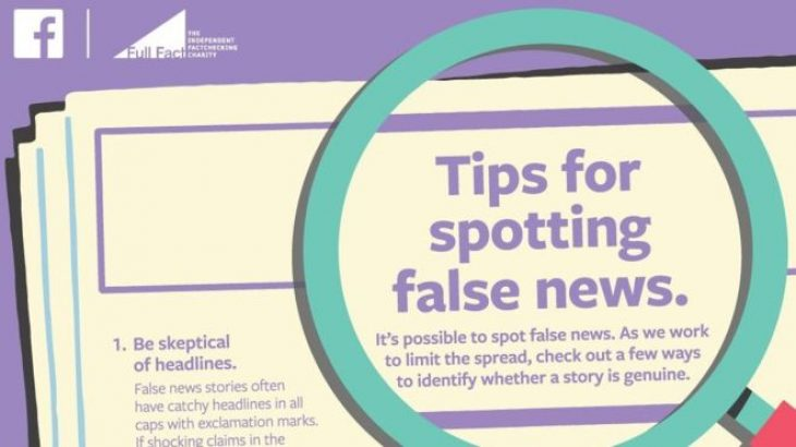 Facebook fushata reklamuese në gazeta për lajmet e rreme