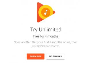 Google ofron 4 muaj falas përdorimin e Play Music