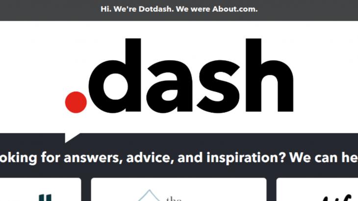 Pioneri i interneti About.com jeton si Dotdash
