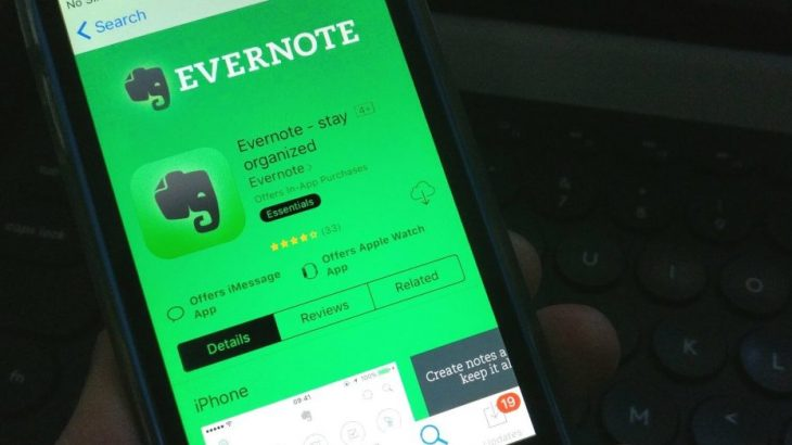 Mbyllet aplikacioni Evernote në BlackBerry dhe Windows Phone