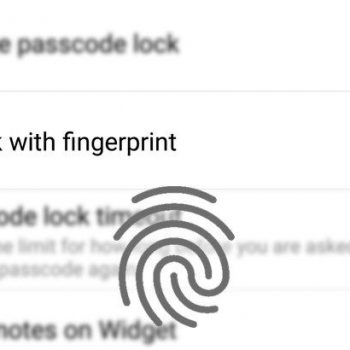 Evernote shton mbështetjen për skanerat e shenjave të gishtërinjve