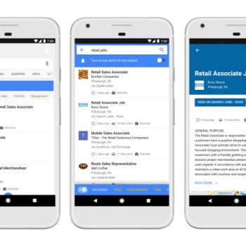 Google përfshin vendet e lira të punës në rezultatet e kërkimit