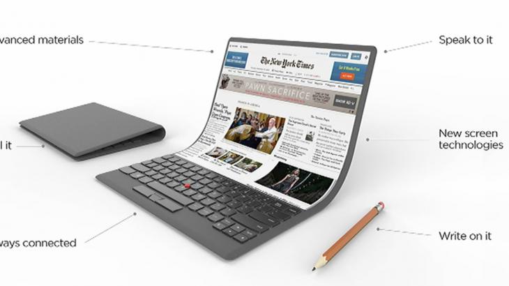 Lenovo zbulon laptopin e së ardhmes me ekrane që palosen