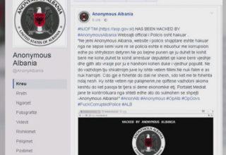 Anonymous Albania sulmon faqen e policisë së Shtetit