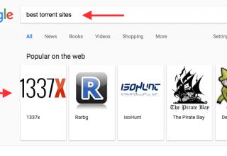 Google jep sugjerime për sajtet më të mira të torrenteve