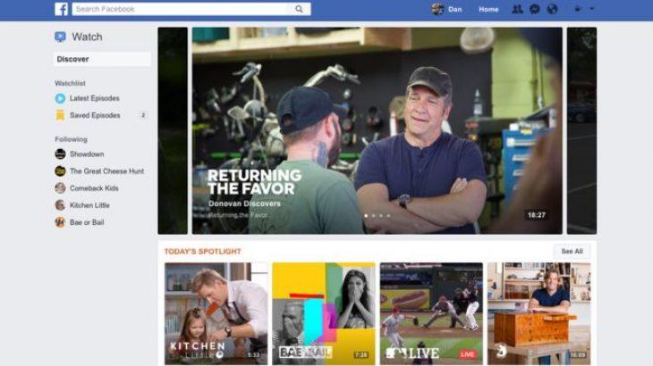Facebook prezantoi shërbimin më të ri video, Watch