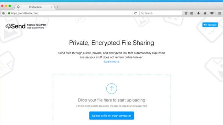 Dërgoni të dhëna me madhësi 1GB me Firefox Send