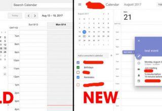 Google teston Dizajnin Material në ueb aplikacionin Calendar