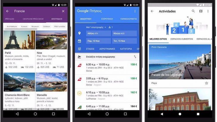 Google shton më shumë vende dhe gjuhë në Trips, Flights dhe Destinations, përfshihet Shqipëria