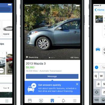 Facebook lançon një treg të dedikuar makinave në rrjetin social