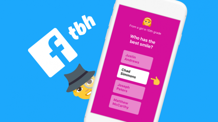 "Facebook blen aplikacionin e komplimenteve anonime ""tbh"""