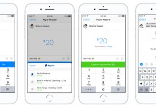 Facebook Messenger dërgon para përmes PayPal