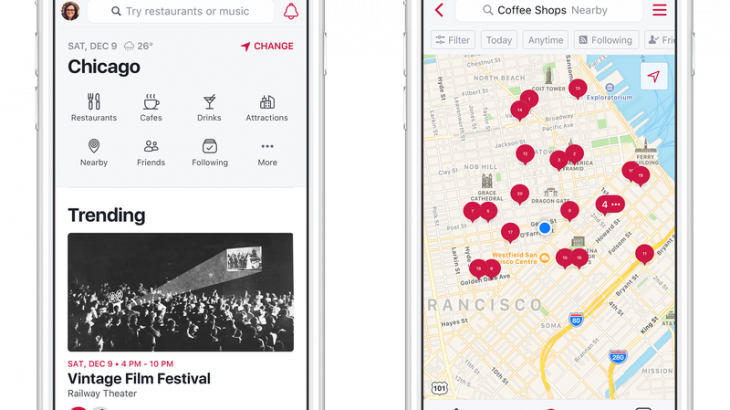 Facebook rilançon aplikacionin Events por tani quhet Local