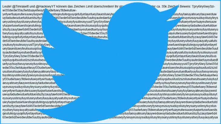 Dy përdorues arrijnë të publikojnë një cicërimë me 35 mijë karaktere në Twitter