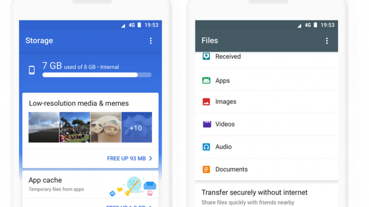 Aplikacioni Google Files Go i disponueshëm globalisht