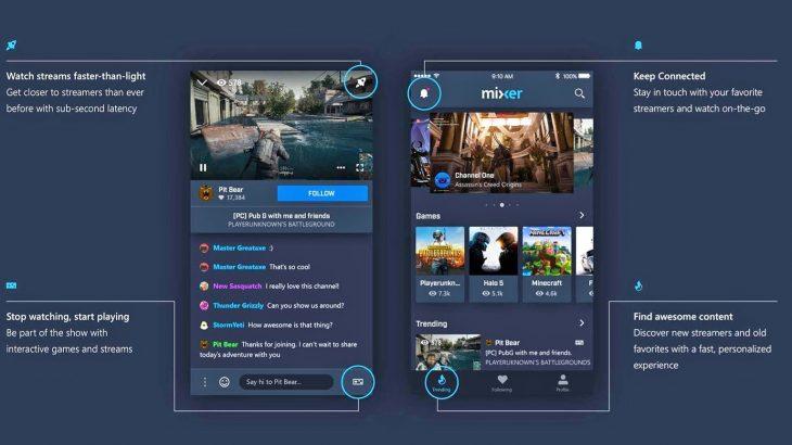 Microsoft lançon versionin zyrtar të rivalit të Twitch, aplikacionin Mixer