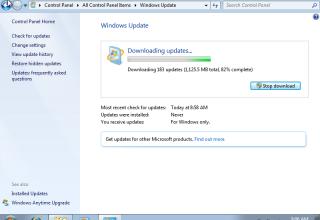 Nga data 3 Dhjetor Windows Update nuk funksionon në Windows 7