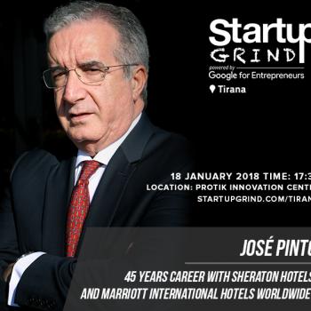 Të Enjten Startup Grind Tirana pret menaxherin e përgjithshëm të Sheraton Hotel Tirana Jose Pinto