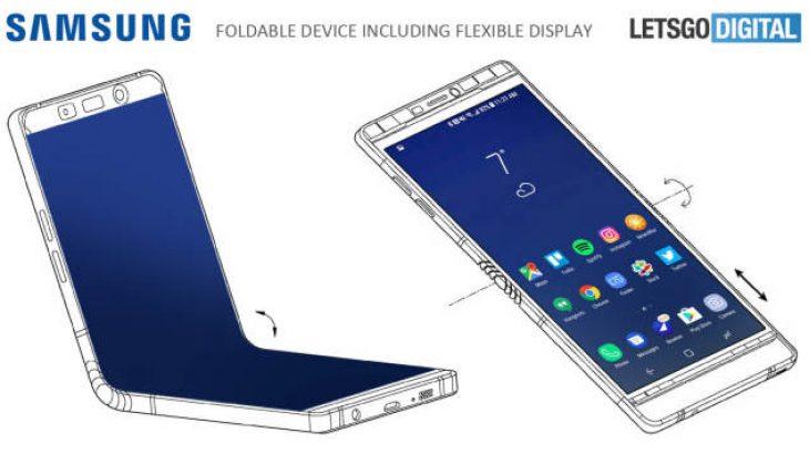 Publikohen foto të telefonit me palosje Samsung Galaxy X