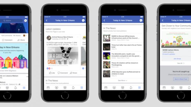 Facebook lançon një seksion për lajmet lokale