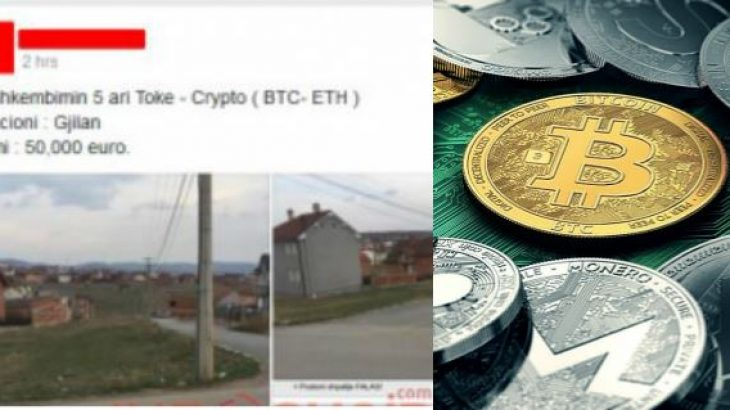 Në Gjilan shitet tokë në Bitcoin