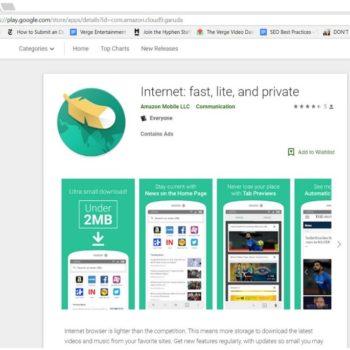 Amazon ka krijuar një shfletues Android të quajtur Internet