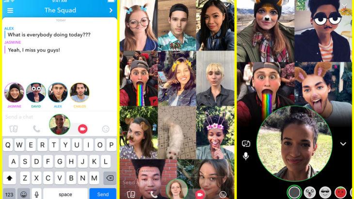 Deri në 16 persona mund tu bashkohen video thirrjeve në grup në Snapchat, 32 për thirrjet me zë