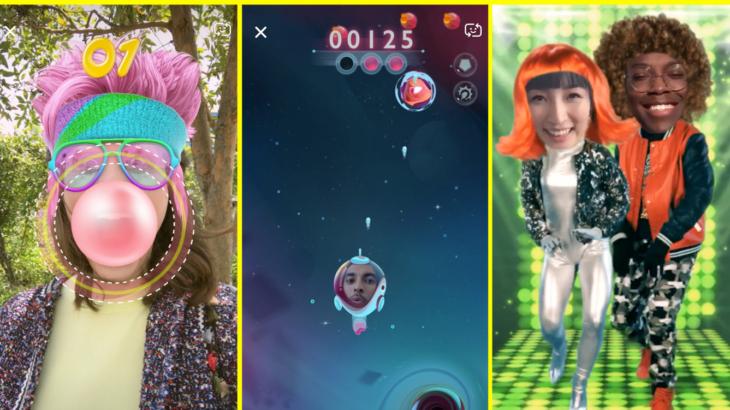 Snapchat ka krijuar lente të reja lojërash