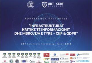 Katër ditë na ndajnë nga Konferenca Kombëtare për CIIP dhe GDPR organizuar nga UBT