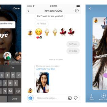 Instagram tani ju lejon që të rishpërndani historitë në të cilat ju jeni përmendur