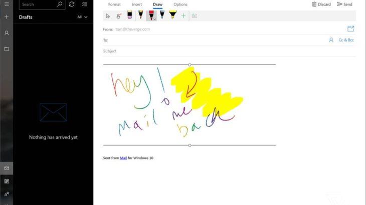 Microsoft sjell bojën dixhitale për aplikacionin Mail