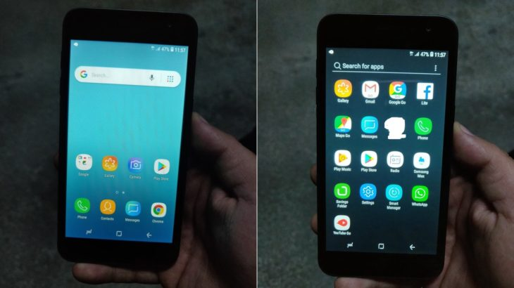 Publikohen foto të telefonit Android Go nga Samsung