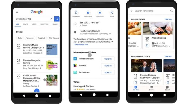 Google Search tani do të rekomandojë ngjarje të bazuara në interesat tuaja
