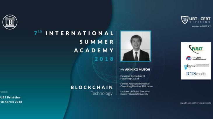 Blockchain technology ligjëratë në Cyber Security & Privacy ANV 18